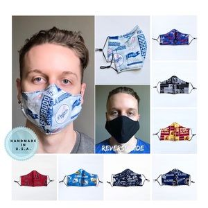Other - Reversible Double-Layered Sports Team Fabric Mask